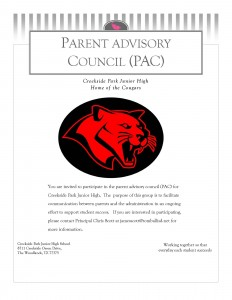 Invitation flyer Parent Advisory Council